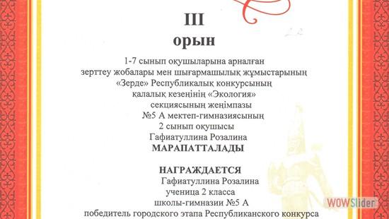 2А, Гафиатуллина Розалина