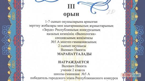 2Д, Валевич Никита