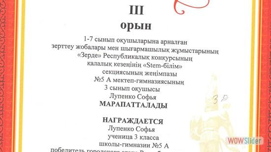 3Д, Лупенко Софья